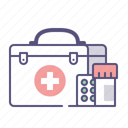 box, doctor, drugs, first help, healthcare, medical, pills icon
