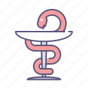 care, medicine, poison, snake icon