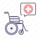 disability, handicap, health care, wheelchair icon