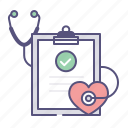 care, health, heartrate, sthetoscope icon