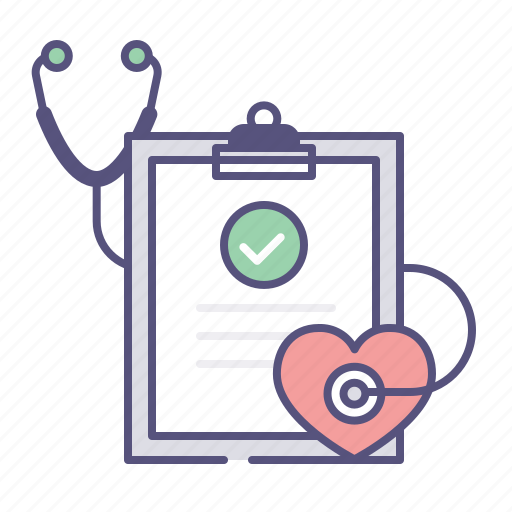 care, clipboard, health, heart, heartrate, medical, sthetoscope icon