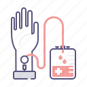 blood, donation, donner, hand, transfusion icon