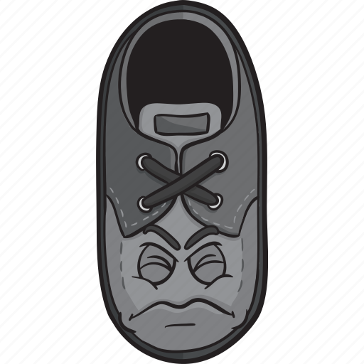 cartoon, emoji, face, loafers, shoe, smiley icon