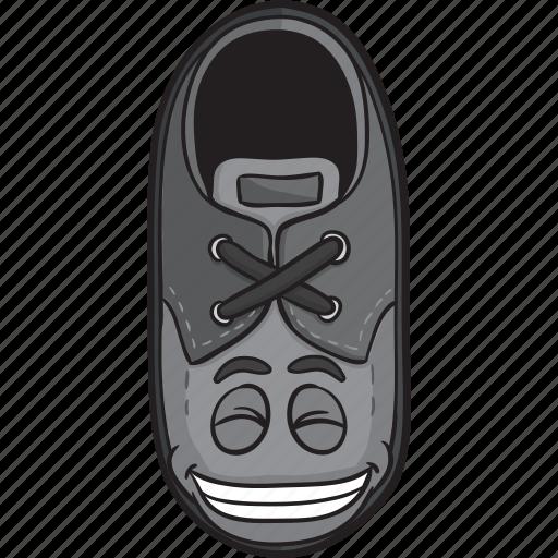 cartoon, emoji, face, loafers, shoe, smiley icon