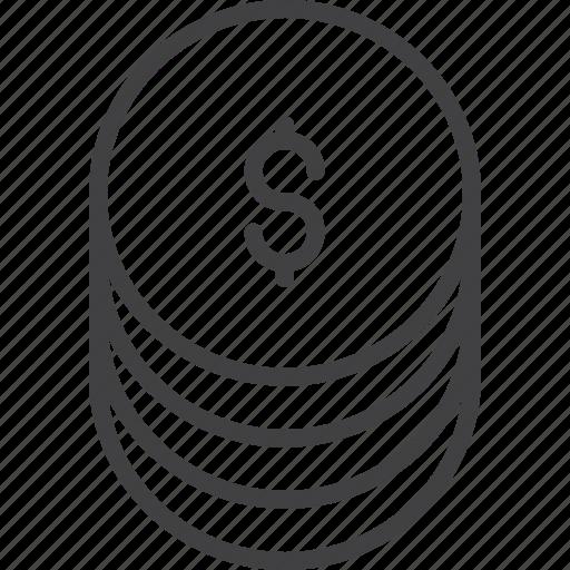 icon, loan, money, set icon