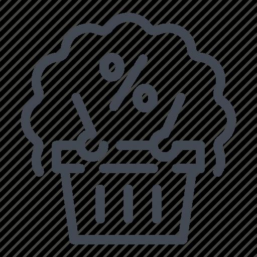 Bank, banking, debt, loan, mortgage, percentage, shop icon - Download on Iconfinder