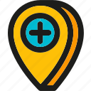 add, create, location, pin, place, shopping icon