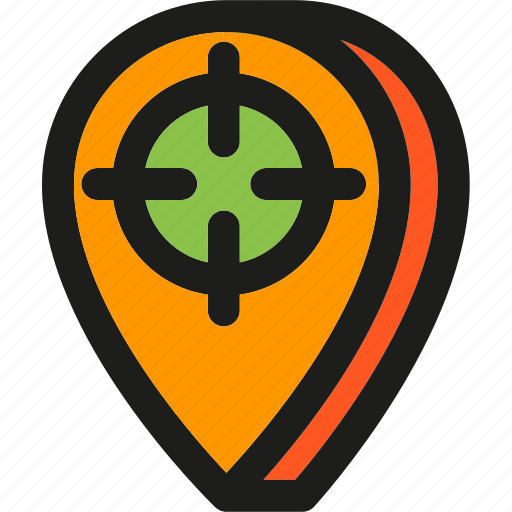 direction, location, map, navigation, pin, place, target icon