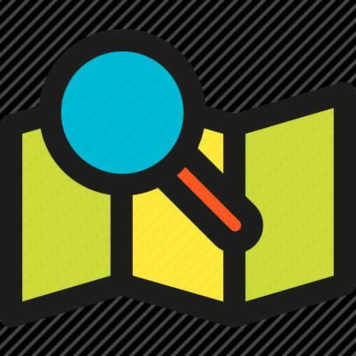browser, design, map, marketing, optimization, search, web icon
