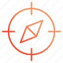 compass, geometry, location, navigation icon