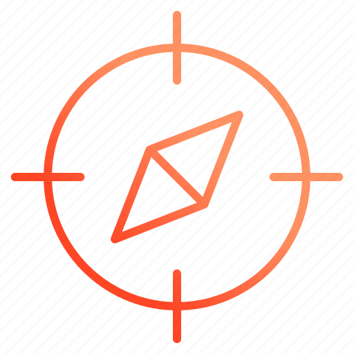 compass, geometry, location, navigation icon