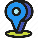 pin, arrow, direction, gps, location, marker, pointer