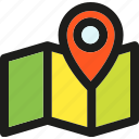 arrow, direction, gps, map, navigation, pin, pointer icon