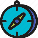 compass, direction, geometry, location, marker, pointer, shape icon