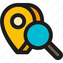 direction, find, location, marker, market, pointer, search icon