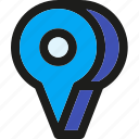 arrow, gps, location, map, navigation, pin, placeholder icon