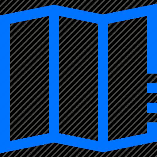 Brochure, column, direction, location, map, navigation, paper icon - Download on Iconfinder