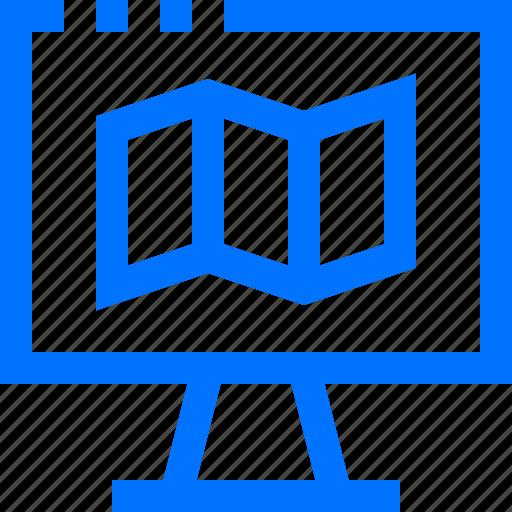 computer, digital, gps, location, map, navigation, online icon