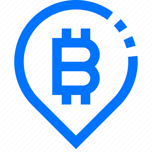 Bitcoin, business, cryptocurrency, location, marketing, money, pin icon - Download on Iconfinder