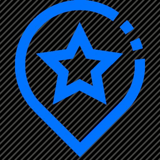 Bookmark, favorite, location, marker, navigation, pin, star icon - Download on Iconfinder