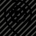 cogwheel, gear, gps, location, map, pin, settings icon