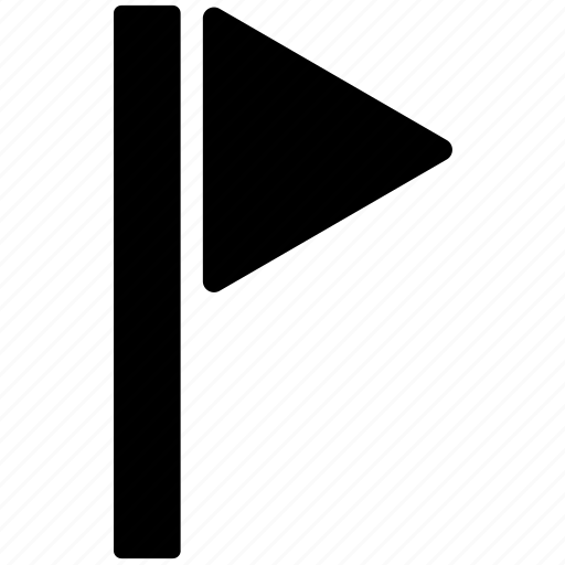 destination, flag, flag pole, pin, position icon