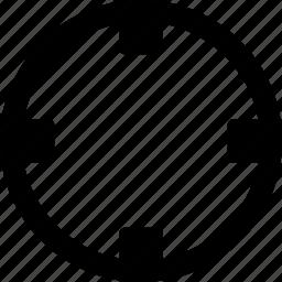 aim, destination, goal view, target icon