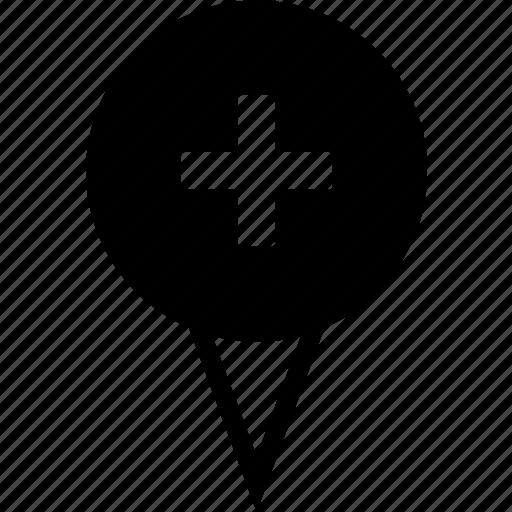 add location, add pin, pin destination, pin new location, pin place icon