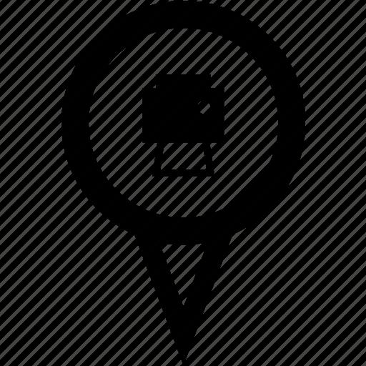 print address, print destination, print location, print map, print pin icon