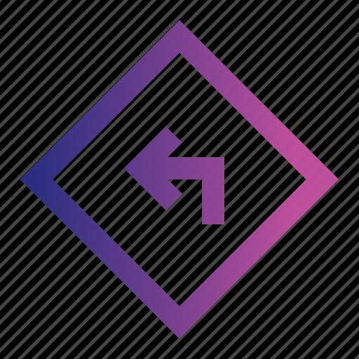 arrow, direction, right, sign, wayz icon