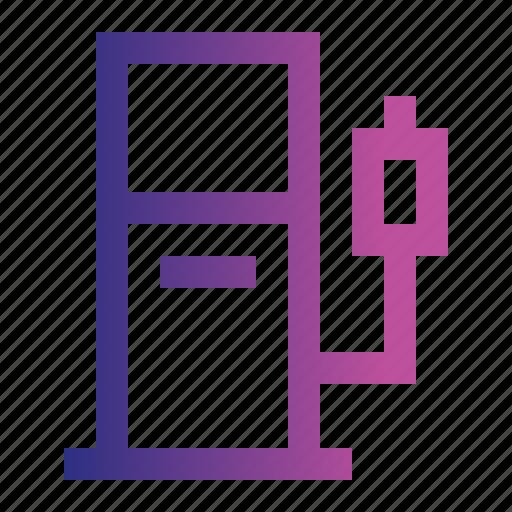 fossil, fuel, petrol, pump, station icon
