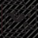 locator, order location, tracking, transportation icon