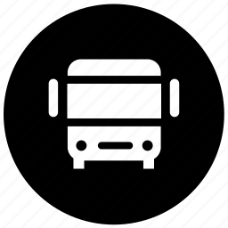 bus, bus station, bus station location icon