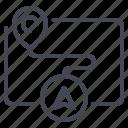 destination, map, route icon