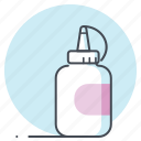 art, bottle, dropper, glue, graphic, stationary, stick icon