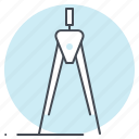cirrcle, compass, draw, equipment, geometry, rotate, tool icon
