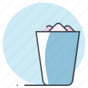 bin, dustbin, garbage, geometry, paper, trash, waste icon