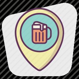 bear, gps, location, map, navigation, pin, pointer icon