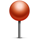 pin, push icon