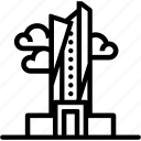 alhamra, building, landmark, location, tower