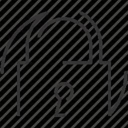 key, lock, padlock, security icon