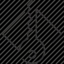key, lock, security icon