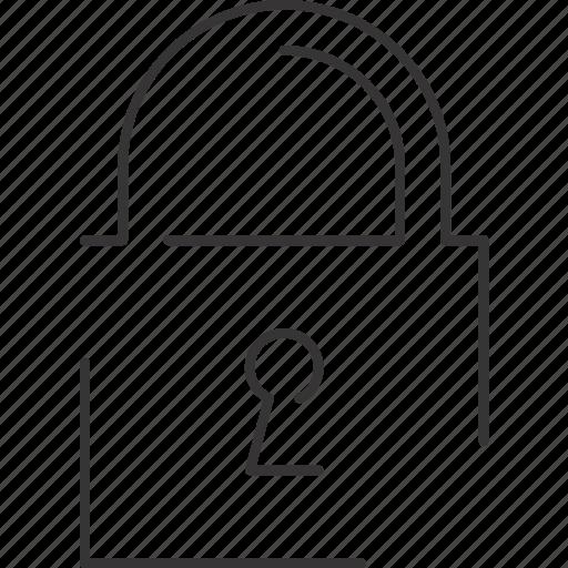 lock, padlock, protect, security icon