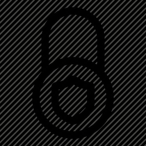 firewall, internet, key, lock, password, security, shield icon