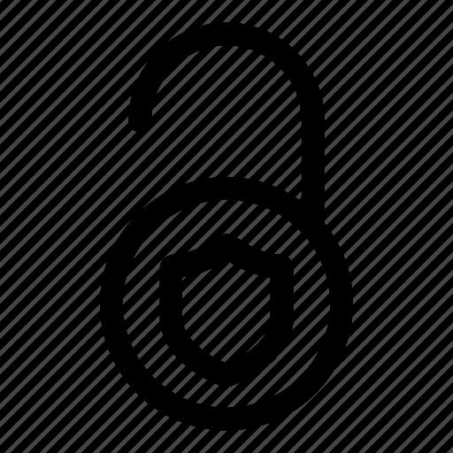 firewall, internet, key, password, security, shield, unlock icon