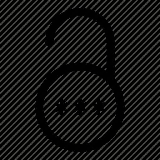 firewall, internet, key, password, pin, security, unlock icon