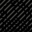 curfew, lockdown, enforcement, critical, shutdown icon