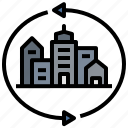 area, city, lockdown, region, space icon