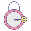 key, lock, locks, opened, padlock, protection, security icon