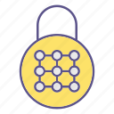locks, padlock, password, protection, security icon